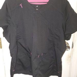XL scrub pant and shirt set Black